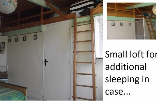 Small loft for additional sleeping